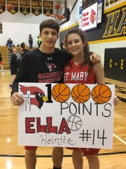 Connor Libis and Ella Heinitz were named the St. Mary boys and girls Athletes of the Year for the Cardinals.
