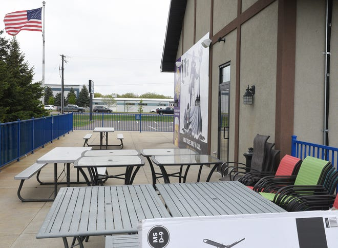 Blue Line South is pictured Thursday, May 21, 2020, in St. Cloud. The restaurant has one of the larger patio areas in the city.