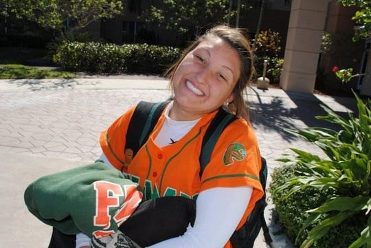 Taylor West (now Sherrod) is all smiles before a softball game for FAMU.