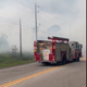A brush fire shut down CR-512 on Thursday, May 21, 2020.