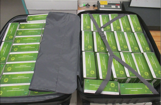 U.S. Customs and Border Protection officers seized 1,000 counterfeit COVID-19 Rapid Tests on Saturday, May 16, 2020, at the Santa Teresa, New Mexico, port of entry.