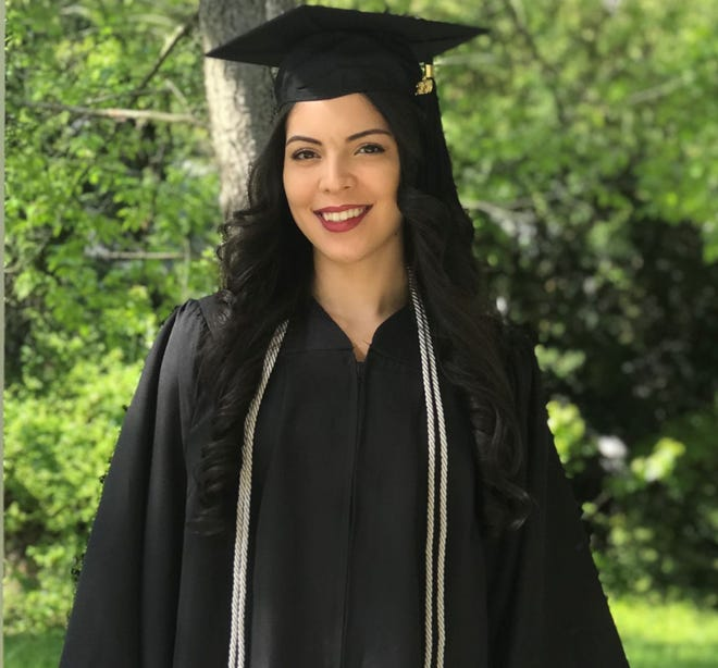 Ruth Altreche of Vineland, a participant in Rowan College of South Jersey's Cumberland Bridge to Rowan program, recently earned her bachelor's degree from Rowan University.