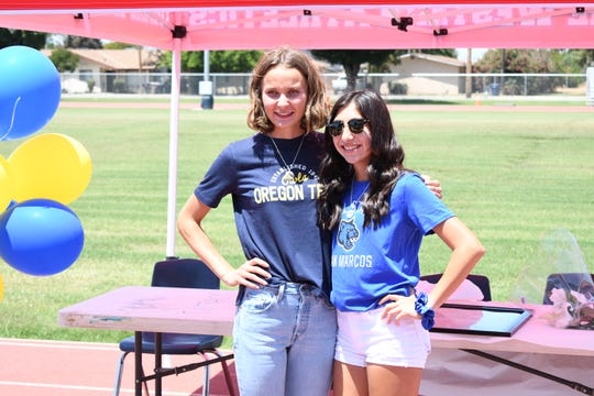 Tulare Western High School seniors Shannon Mckinsie, left, and Nadia Salcedo will both be running in college at their respective universities. Mckinsie at Oregon Tech and Salcedo at Cal State San Marcos.