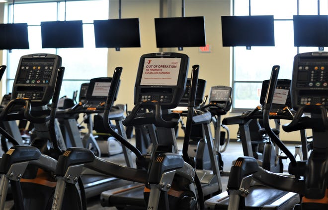 Muskingum County Family YMCA has limited the treadmills available to meet social distancing guidelines, as gyms will open on Tuesday.