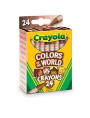 "Crayola ""Colors of the World"" 24-crayon box."