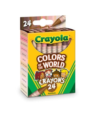 """Crayola celebrated diversity with its """"Colors of the World"""" 24-crayon box."""
