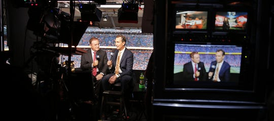 Al Michaels and Cris Collinsworth don't anticipate to be calling NFL games from a far-away studio this fall.