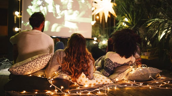 With a projector and screen, you can host your own backyard movie screenings.