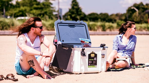 If you're out in the sun all day, this cooler will keep drinks and snacks chilled.