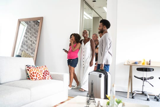A vacation rental lets you prepare your meals, host a large family, and enjoy all of the conveniences of your home. No, it's not free, but compared to staying in a traditional hotel and eating in restaurants, it's positively a bargain.