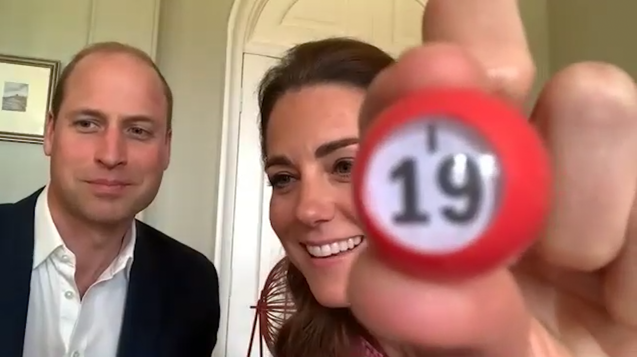 Bingo! Will & Kate call the numbers in Zoom game with nursing home residents in Wales