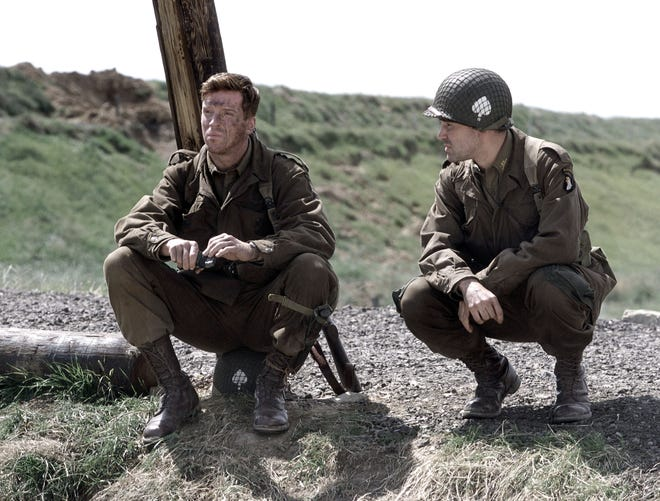 """A scene from HBO's war mini-series """"Band Of Brothers,"""" which was based on the book of the same name by Stephen Ambrose."""
