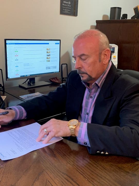 Donnie Speck at work in his office.