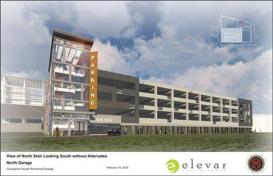 A rendering of the FC Cincinnati garage