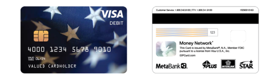 EIP cards from the federal government