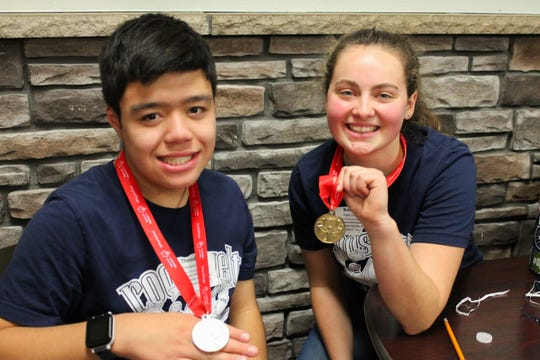 All-Iowa Special Olympics honorees Theodore Luong and Kobie Long