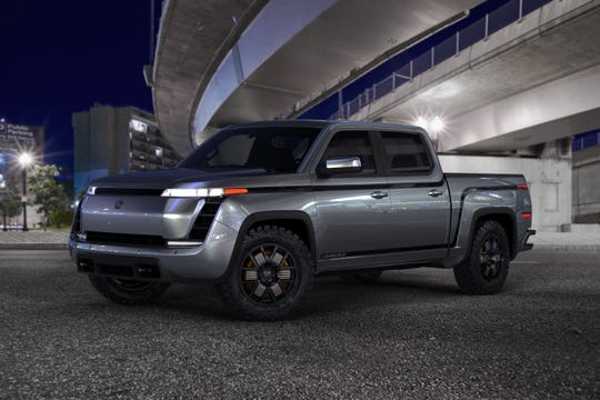 One of the first rendering photos of the 2021 all-electric Endurance pickup from Lordstown Motors.