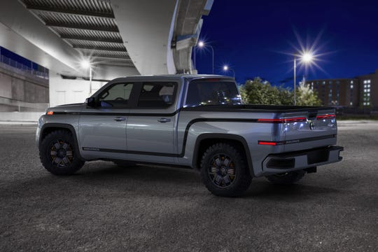 The 2021 all-electric Endurance pickup from Lordstown Motors. It is due to market next year.