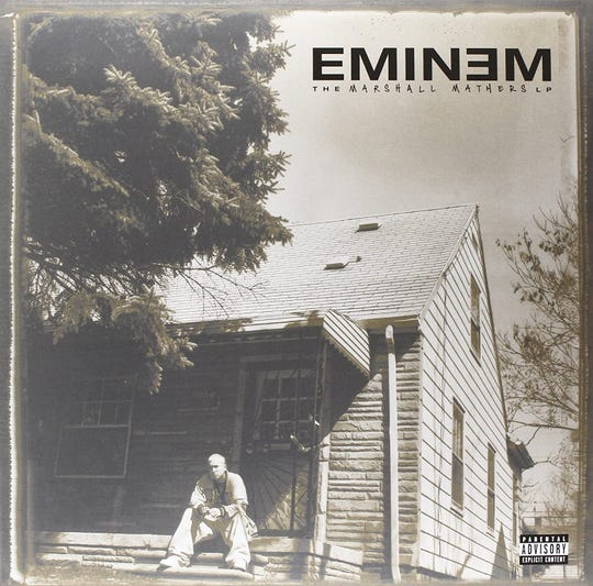 "Eminem's ""The Marshall Mathers LP"" turns 20 on Saturday."