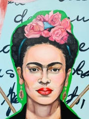 A painting of Mexican painter Frida Kahlo, by Amy Jarvis, is one of the works saluting women to be exhibited in Thelma Sadoff Center for the Arts.