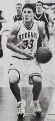 Kremlin-Gildford standout Jake Stuart drives toward the hoop during a undated game.