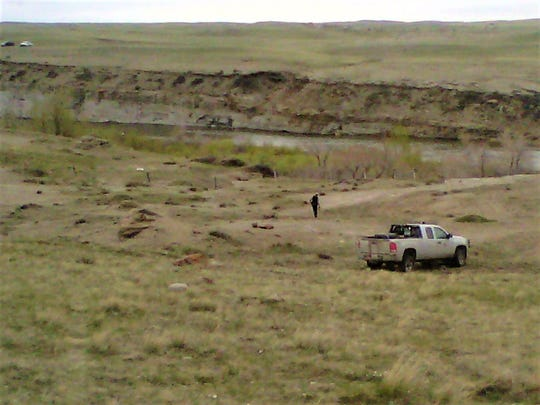 Site of the May 17 grizzly attack shown here, on the banks of the Sun River near the Willow Creek Reservoir