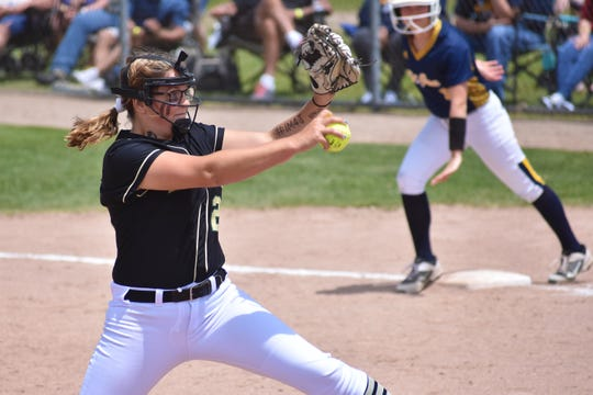 Howell's Molly Carney had a 79-15 in her career with 691 strikeouts.