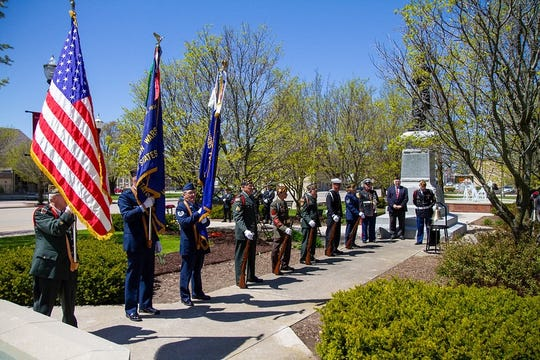 Pictured: City of Two Rivers holds a Memorial Day ceremony May 20 in Central Park. A tribute video of the ceremony will be posted online on Memorial Day.