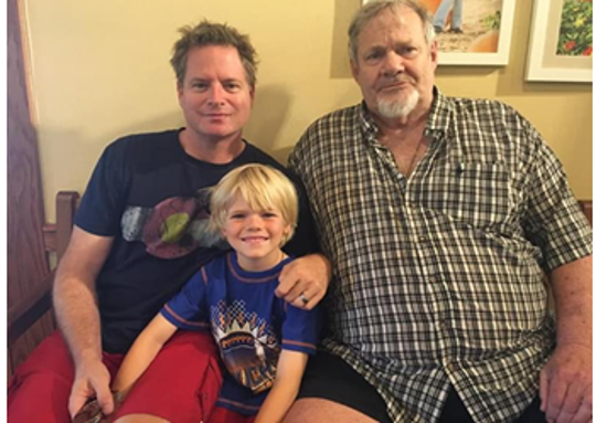 Bill Hartman, right, died of COVID-19 on Wednesday at age 79. Here is seen with his son, Will Hartman, and grandson Thatcher Hartman, 11, who was 7 in this photo.