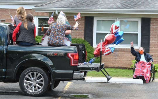 Residents of Lexington Court Care were treated to a parade from friends and family Friday afternoon.