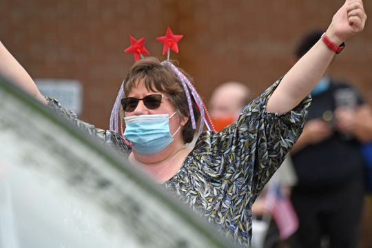 There was feeling of celebration during Lexington Court Care's parade Friday afternoon.
