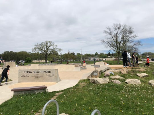 The Tosa Skatepark was busy Friday.