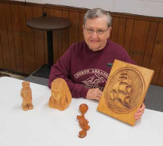 The North Arkansas Woodcarvers Club will resume meeting Thursday at VFW Post 3246 at 7th and Gray just west of Firehouse No. 1. The meeting will be held at 8 am. and Naomi Inglett will have a class on carving a sailing ship. Call club president Marty Wells at (870) 656-6963 for more information on the club.