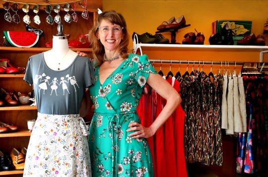 Sugaree's owner Staci Higdon in her shop in downtown Murfreesboro, on Friday, May 22, 2020.