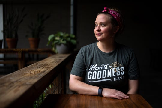 Tess Spratlin poses for a portrait at Butcher & Bee in Nashville on Thursday, May 21, 2020.