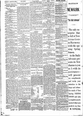 Page 4 of the March 22, 1882edition gave several examples of the type of hyper local news that used to be in print.
