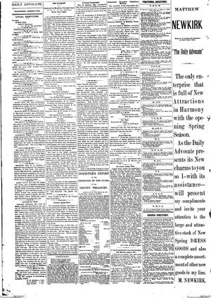 Page 4 of the March 22, 1882 edition gave several examples of the type of hyper local news that used to be in print.
