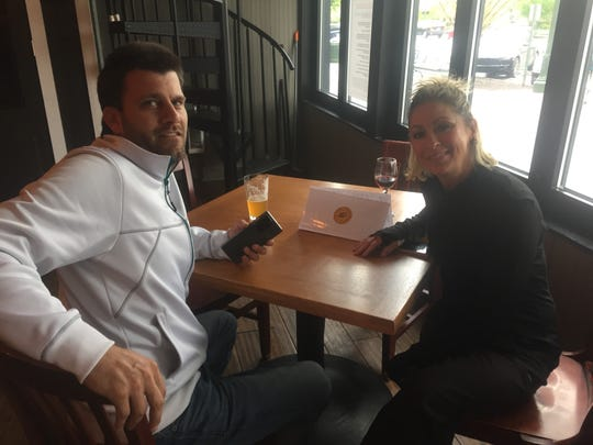 Matt and Michelle Sleeper of Granville were among the first to return to dine at the Pub on Broadway Thursday evening, shortly after the dining area welcomed customers back after months of only carryout and curbside pick-up.