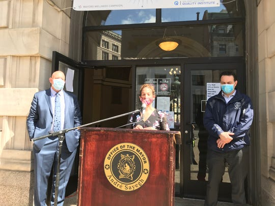 Dr. Suzanne DeLorenzo of the Passaic Valley Water Commission reminding building owners to flush their lines before returning from the economic shutdown