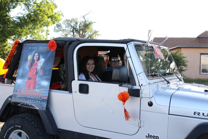Members of the Artesia High School Class of 2020 get ready to drive into the sunset on May 21, 2020 during a senior recognition parade.