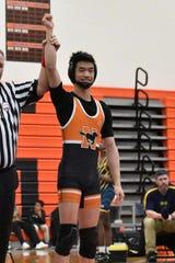 Brandon Liu was a three-time regional qualifier for the Northville wrestling team.