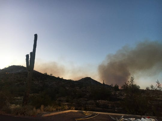 White Mountain Regional Park was evacuated after a fire broke out Thursday. The fire was reported to be 128 acres Friday, with 60% containment, Arizona Department of Forestry and Fire Management officials say.