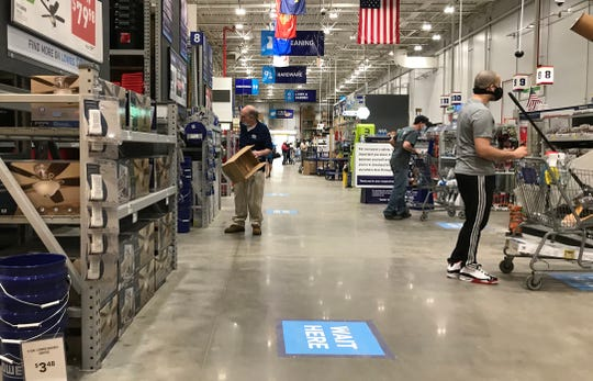 The Lowe's Home Improvement on Ridge Road in Greece saw most people in masks on Friday, May 22, 2020.