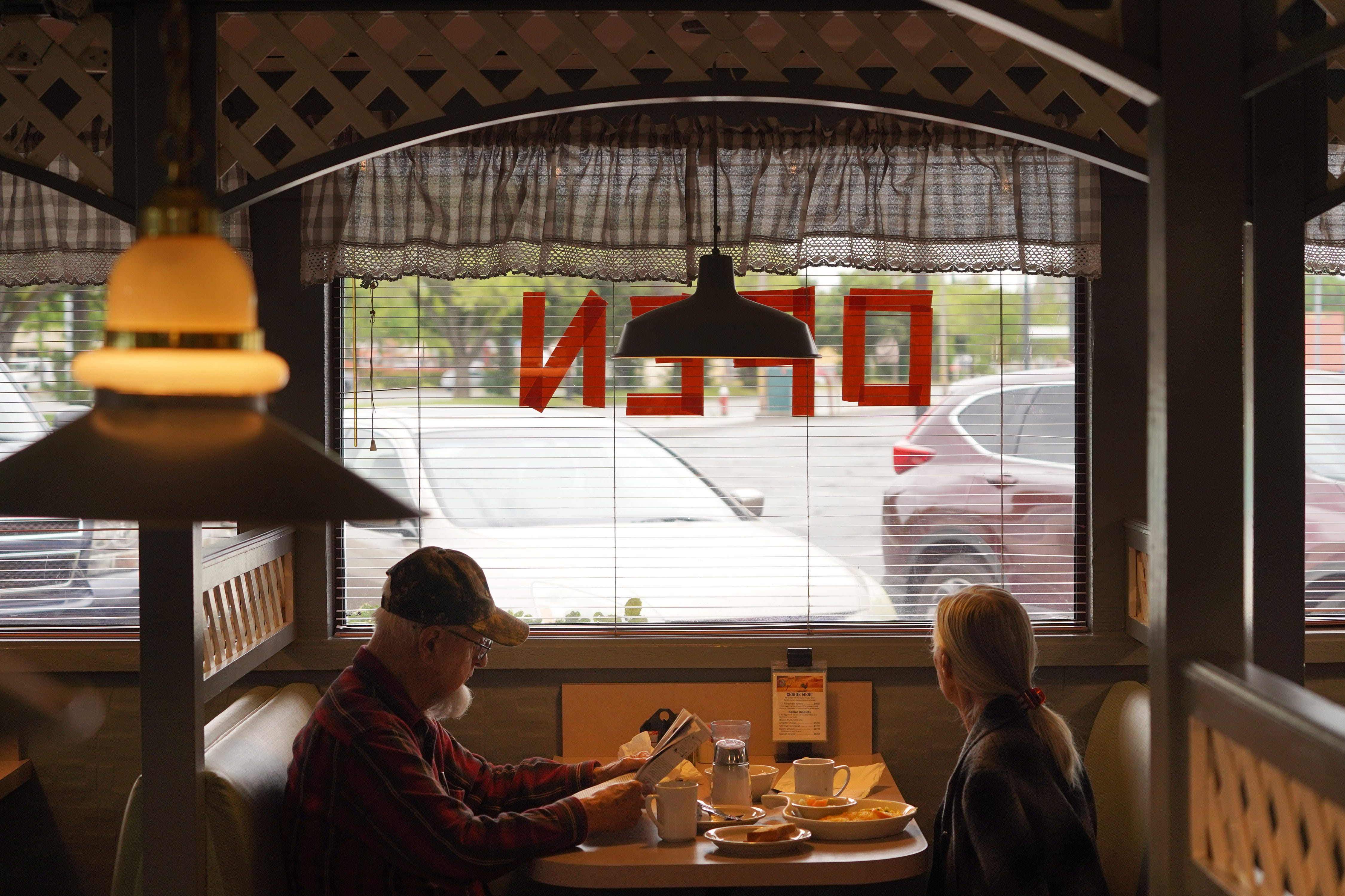 Country Waffles in Redding reopened to diners on Wednesday, May 13, 2020, nearly two months after a March 19 California stay home order, due to the COVID-19 pandemic, forced restaurants in the state to close.