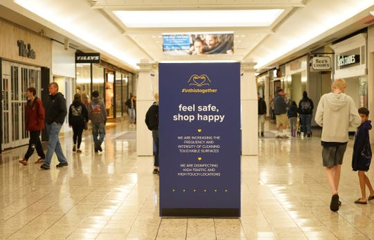 Shoppers returned to Mt. Shasta Mall on Monday morning, May 18, 2020. It was the mall's first day reopening, about two months since it closed due to the COVID-19 pandemic. J.C. Penney and Macy's, the mall's anchor stores, remained closed.