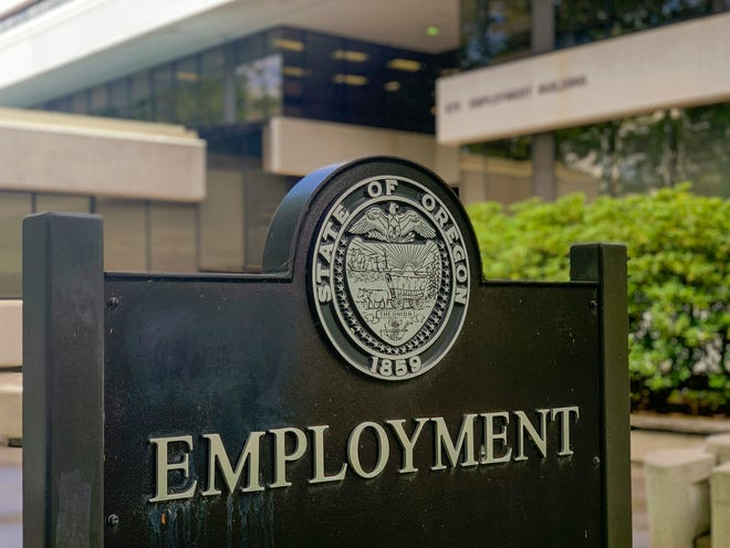 The State of Oregon Employment Department in Salem on May 22, 2020.