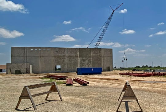 Work continues at the construction site near the PaulAnn Baptist Church in San Angelo on Friday, May 22, 2020.