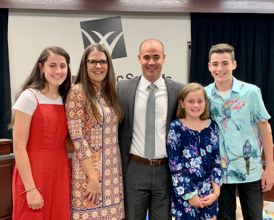 Shane Dublin and  his family were introduced during a Willard school board meeting.