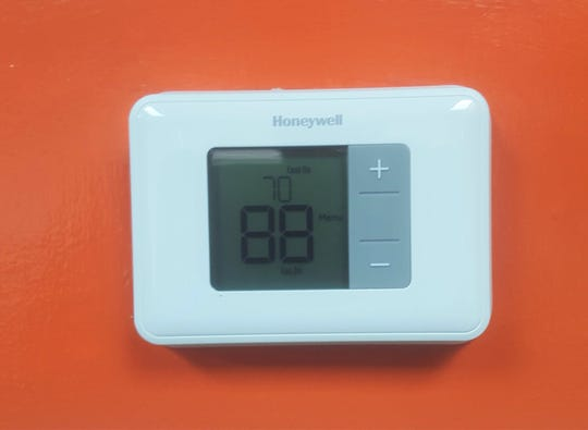 The HVAC issues within the Galimore Powell Field House have resulted a broken air conditioner. This temperature reading of 88 degrees is inside the office of FAMU football head coach Willie Simmons.