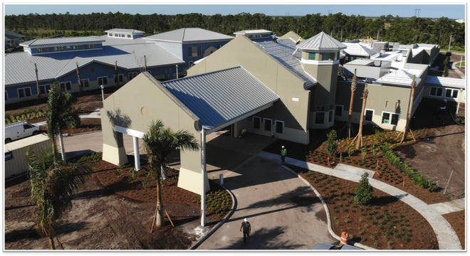 Aerial of the Ardie R. Copas State Veterans' Nursing Home in Port St. Lucie.